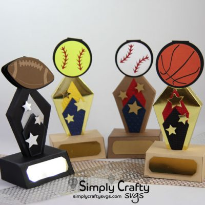 Sports Trophy Set SVG File