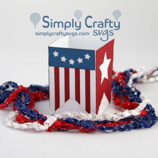USA Banner Box SVG Design