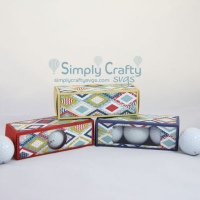 Golf Ball Box Set SVG File