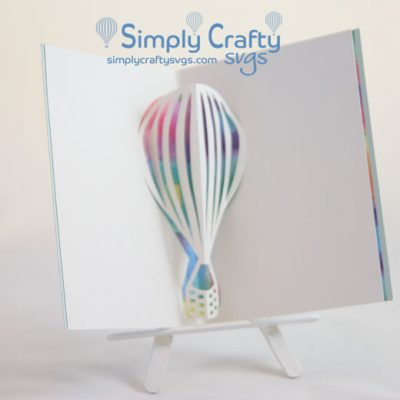 Hot Air Balloon Popup Insert SVG File