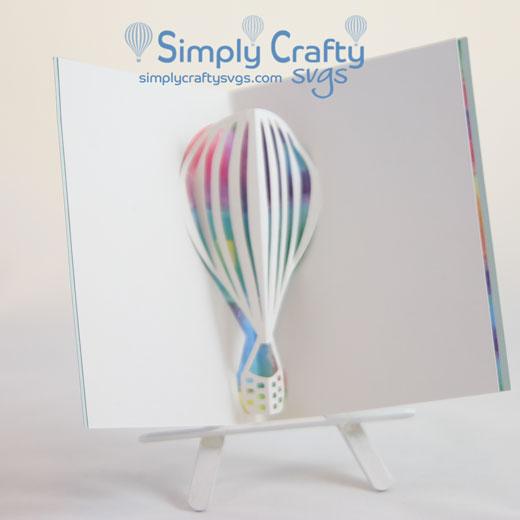 Hot Air Balloon Popup Insert SVG File