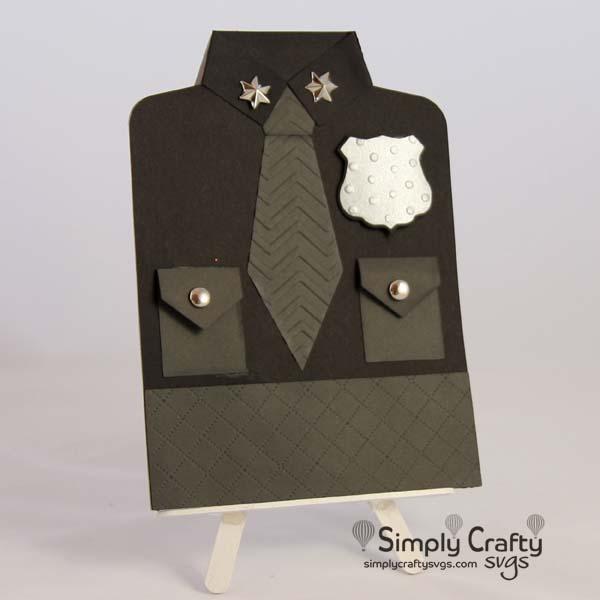 Police Uniform Card SVG File