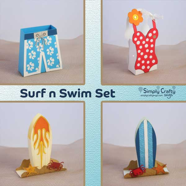 Surf n Swim Box Set SVG Files