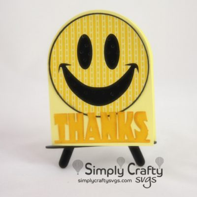 Smiley Thanks Card SVG File