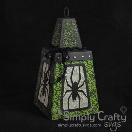 Spider and Skulls Halloween Lantern SVG File
