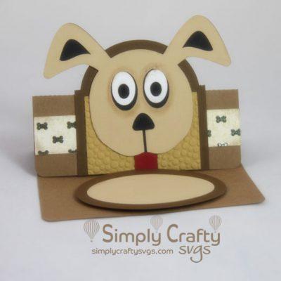 Dog Easel Card SVG File