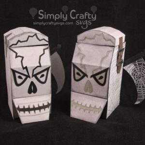 Skull Head Box and Lantern SVG File