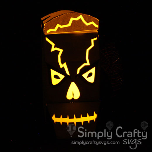 Skull Head Lantern SVG File