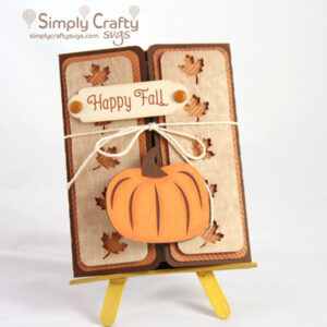 Fall Pumpkin Gatefold Card SVG File