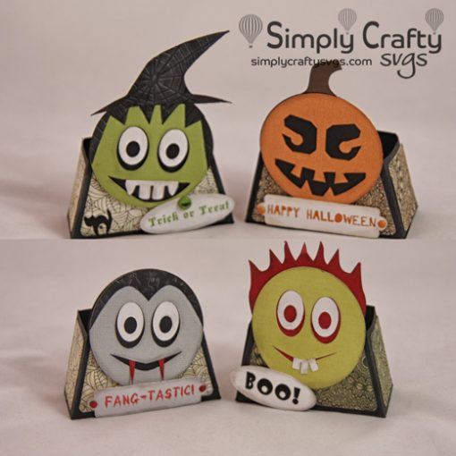 Smiley Halloween Treat Box SVG File