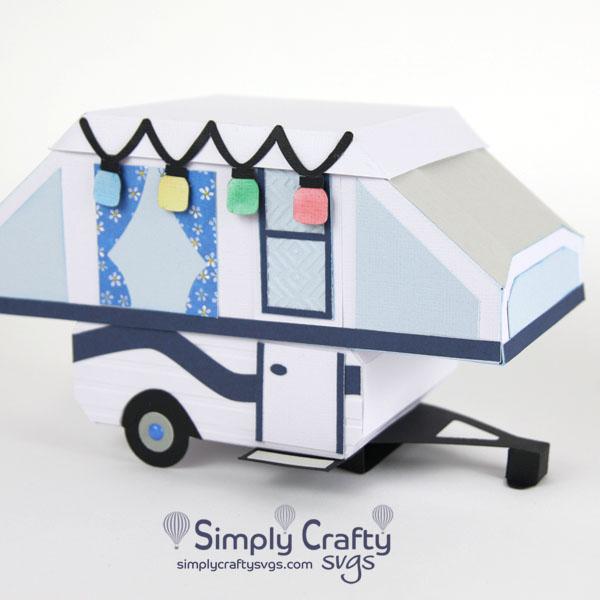 Tent Trailer Box SVG File