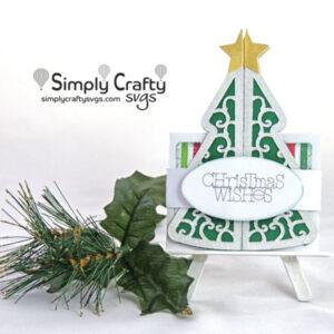 Christmas Tree Double Fold Card SVG