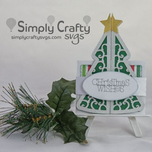 Christmas Tree Double Fold Card SVG File