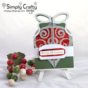 Ornament Double Fold Card SVG File