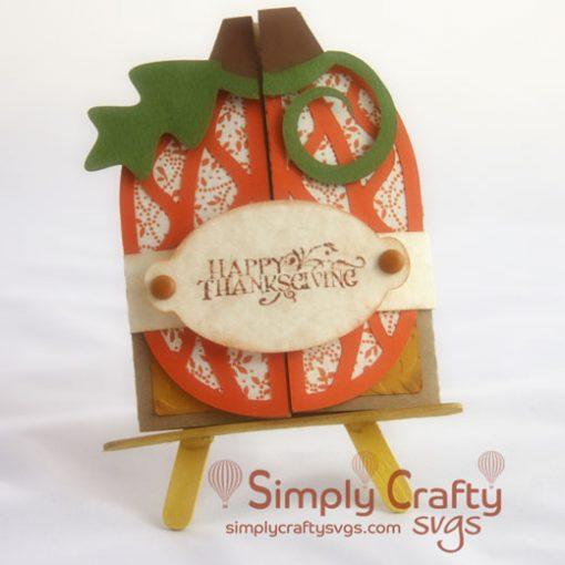 Pumpkin Double Fold Card SVG File
