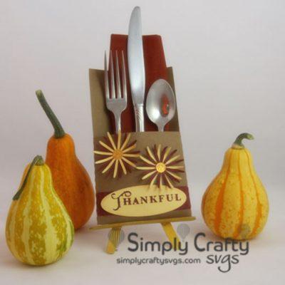Thanksgiving Silverware Holder SVG File