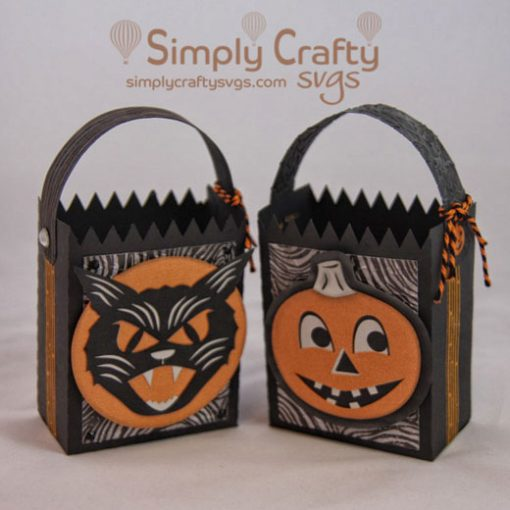 Vintage Halloween Bag Set SVG File