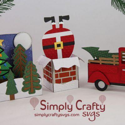 Christmas Box Card Set SVG File