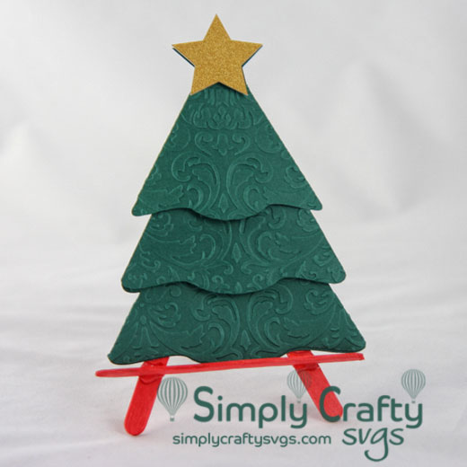 Christmas Tree Gift Card Holder Svg File Simply Crafty Svgs
