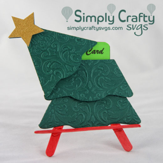 Christmas Tree Gift Card Holder SVG File
