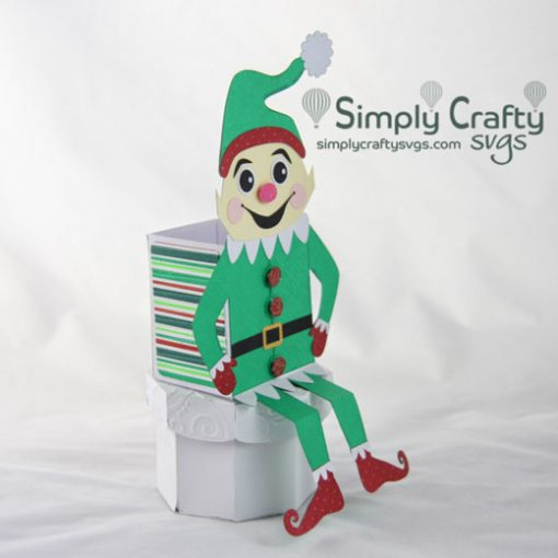 Elf Shelf Sitter Box SVG File