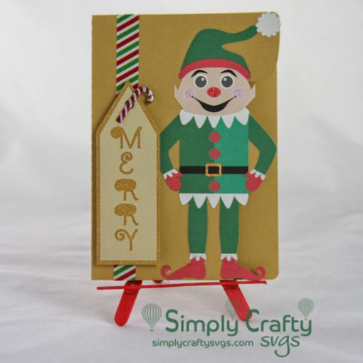Elf Shelf Sitter Card SVG File