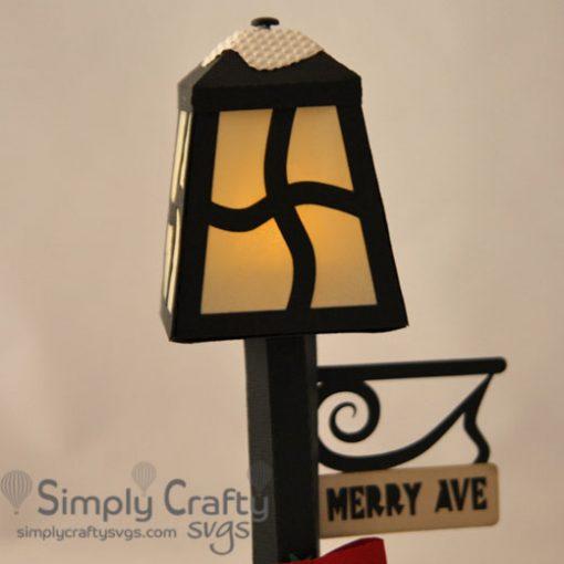 Holiday Lamp Post SVG File