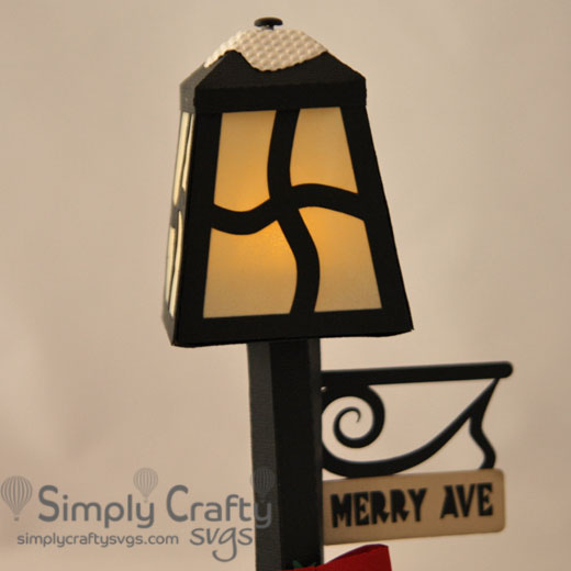 Holiday Lamp Post SVG File
