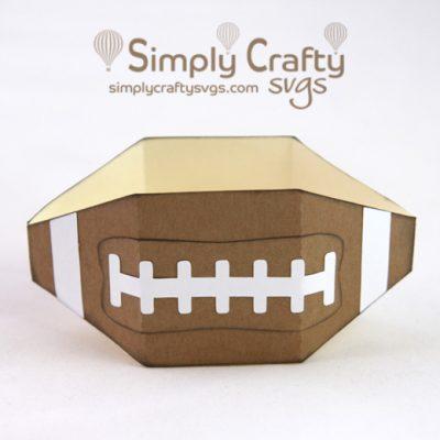 Football Favor Box SVG File