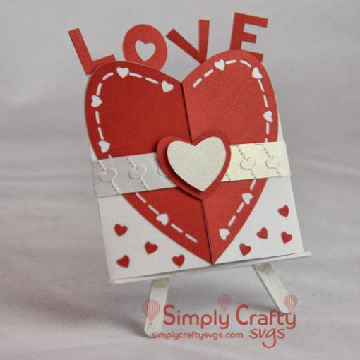 Heart Love Gatefold SVG File