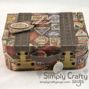 Vintage Suitcase SVG File
