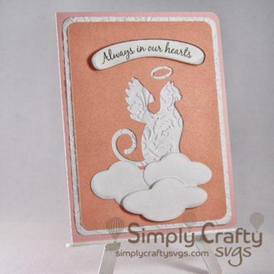 Cat Angel Sympathy Card SVG File