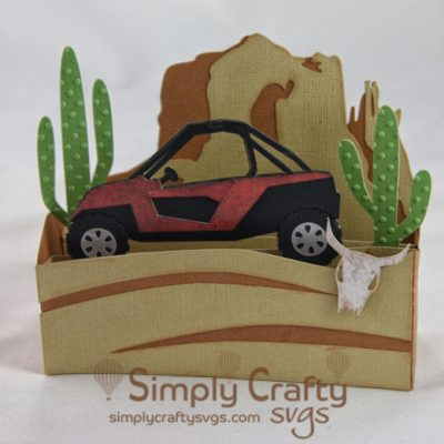 Desert Off-roading Box Card SVG File