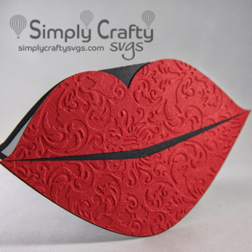 Lips Pop Up Card SVG File