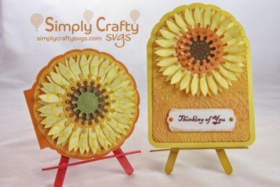 Sunflower Cards SVG File