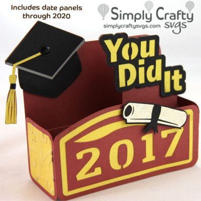 Graduation You Did It Box Card SVG File