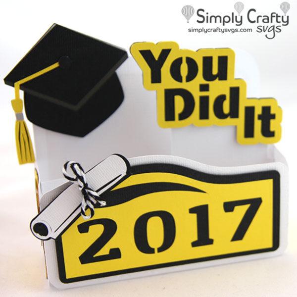 Graduation You Did It Box Card SVG File