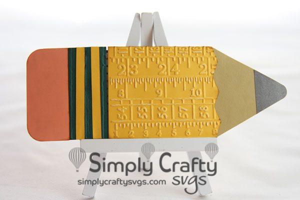 Pencil Gift Card Holder SVG File