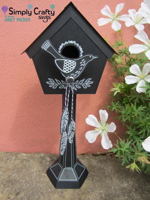 Chalkboard Birdhouse by DT Janet Packer