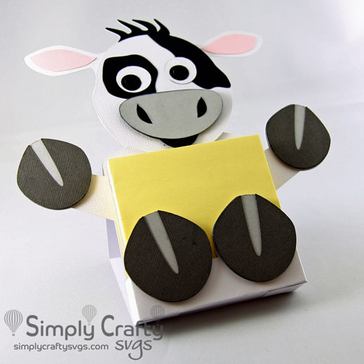 Cow Sticky Notepad Holder SVG File