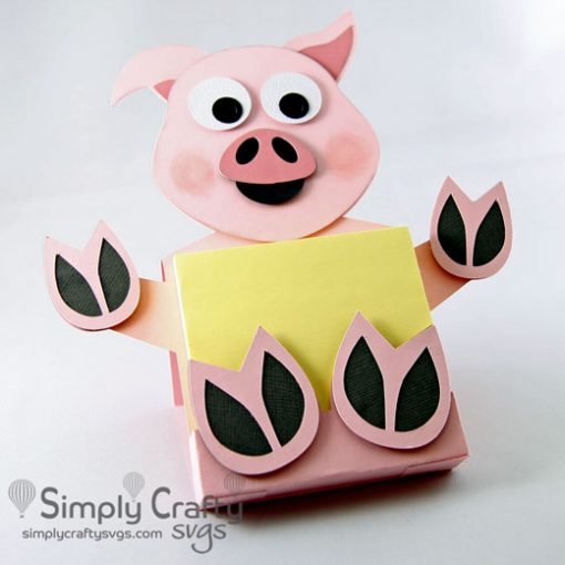 Pig Sticky Notepad Holder SVG File
