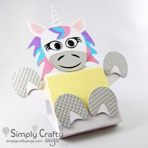 Unicorn Sticky Notepad Holder SVG File