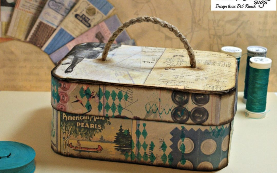 Sewing Box using Vanity Case SVG by DT Deb Rauch