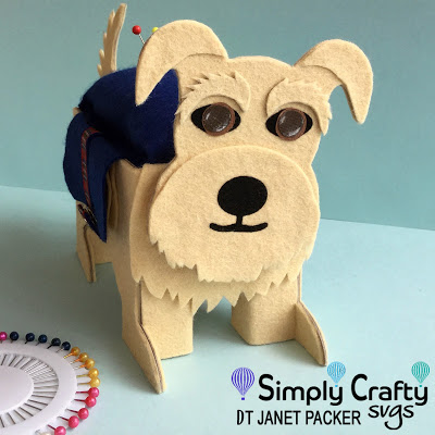 Terrier Pin Cushion by DT Janet Packer