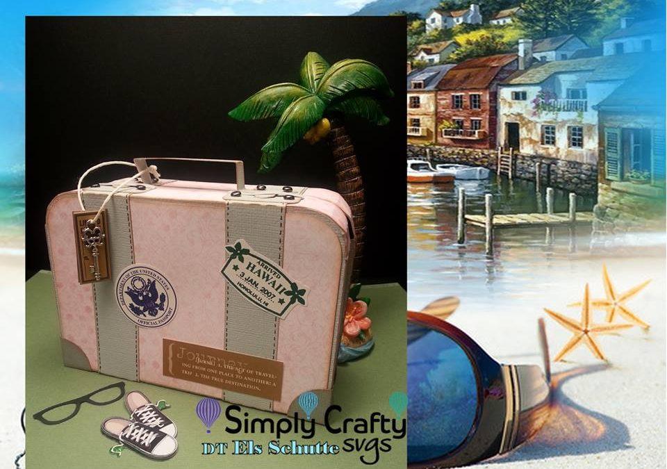 Vintage Suitcase by DT Els Schutte