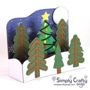 Christmas Tree Farm Box Card SVG