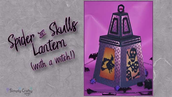 Spider and Skulls Halloween Lantern by Guest Designer Mike Fernholz