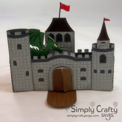 Dragon Castle Card SVG File