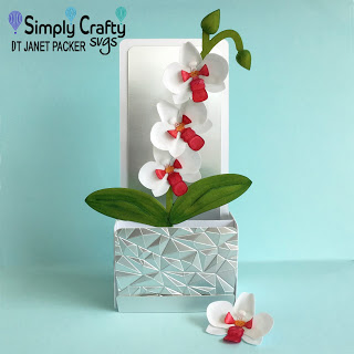 Orchid Card by DT Janet Packer