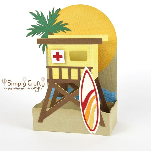 Surfer's Paradise Card SVG File
